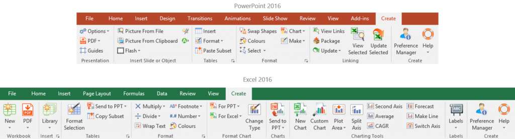 chart layout in excel 2016
